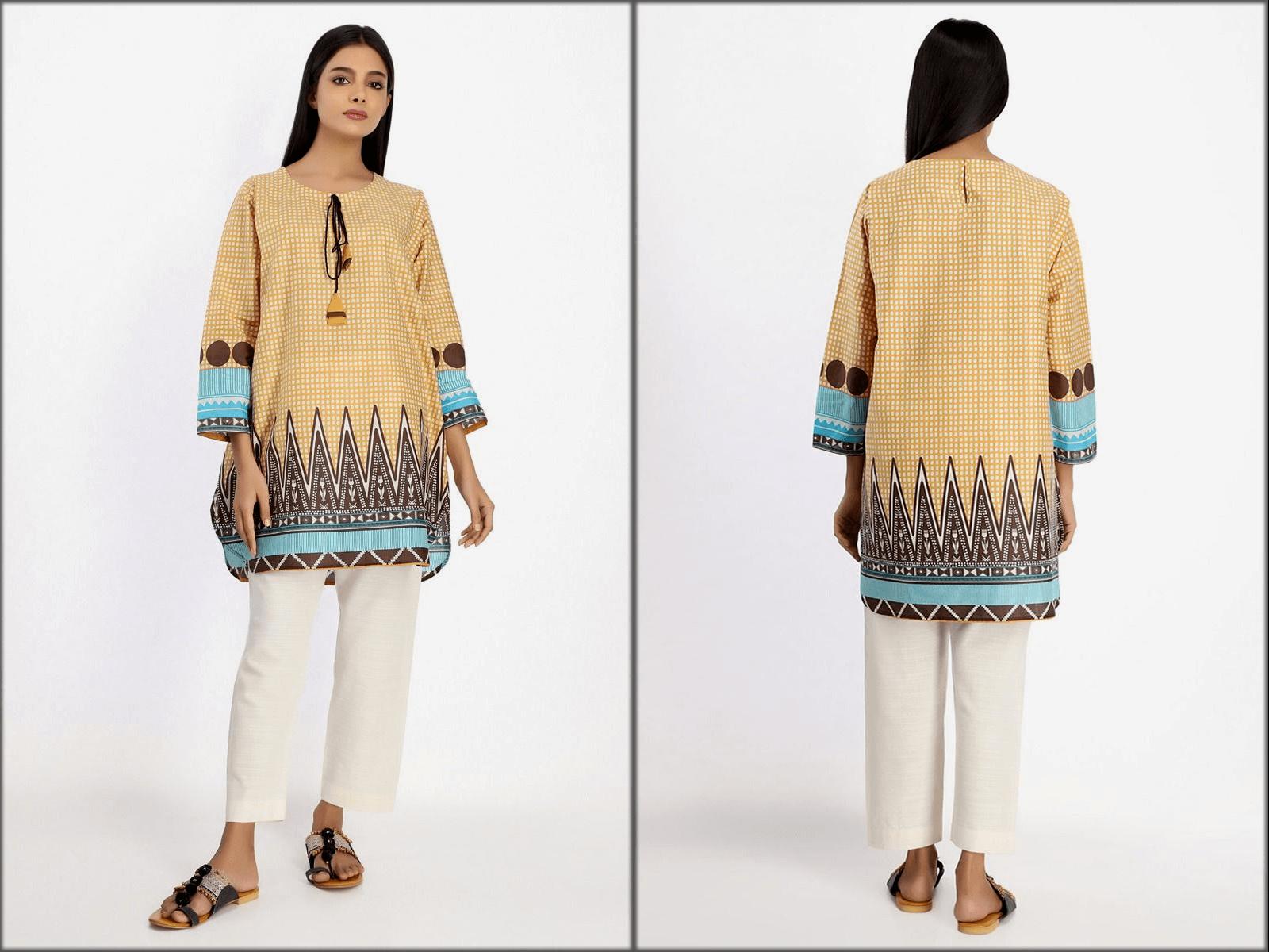 khaadi latest kurta designs for women