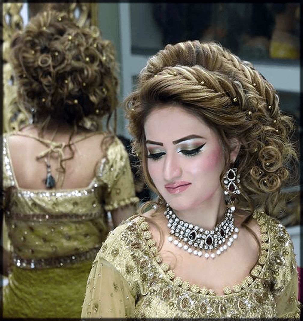 latest Pakistani Bridal HairStyles by kashees