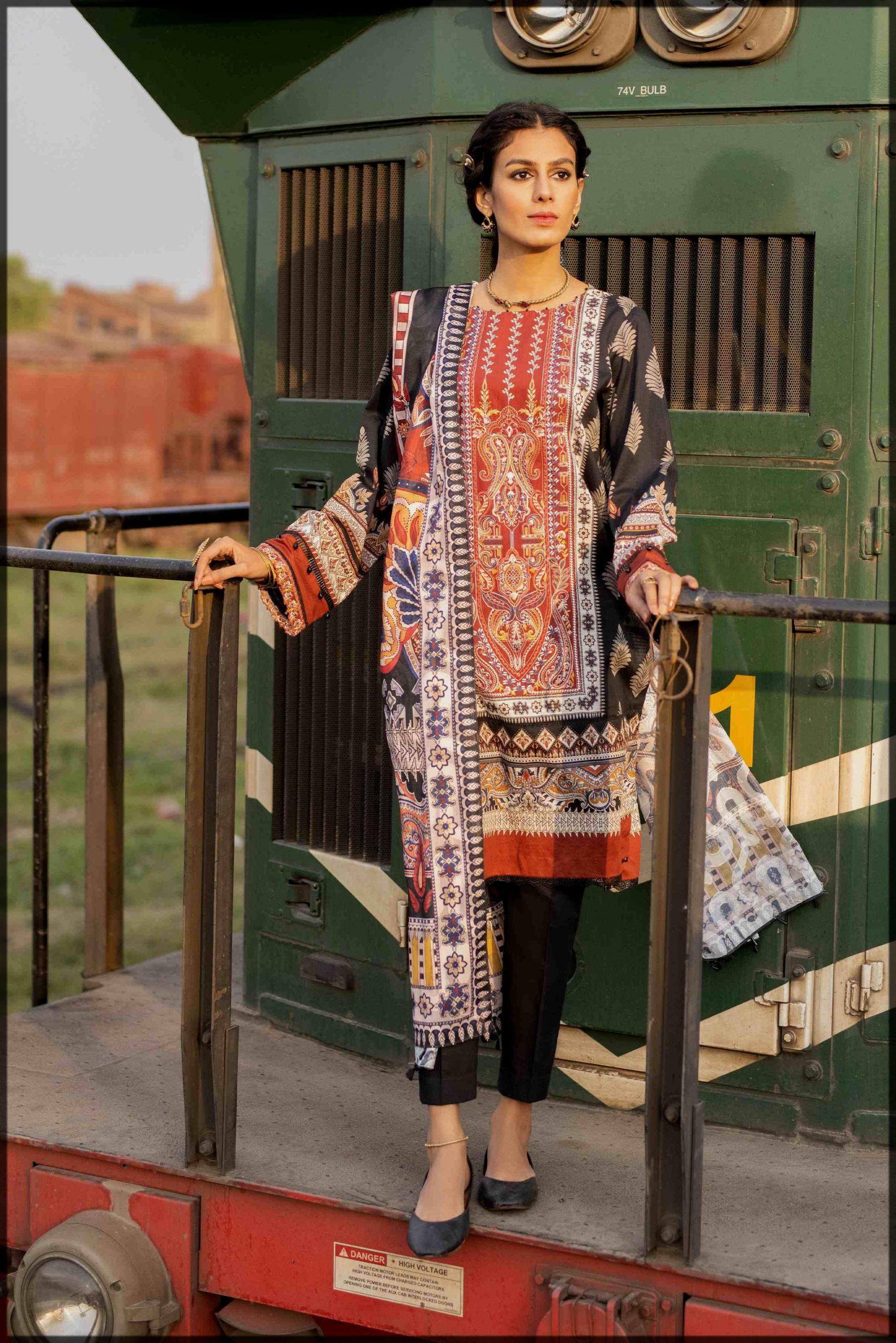 latest sapphire Pakistani Eid Dresses