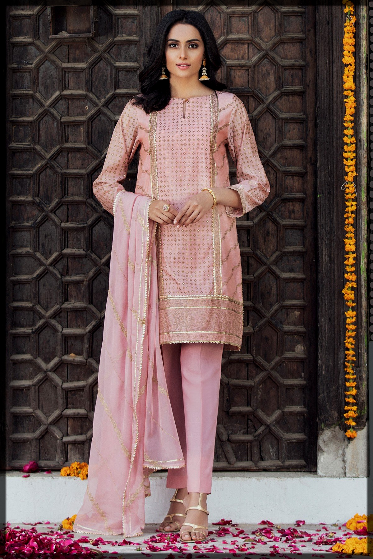 lovely pink summer suit for teens