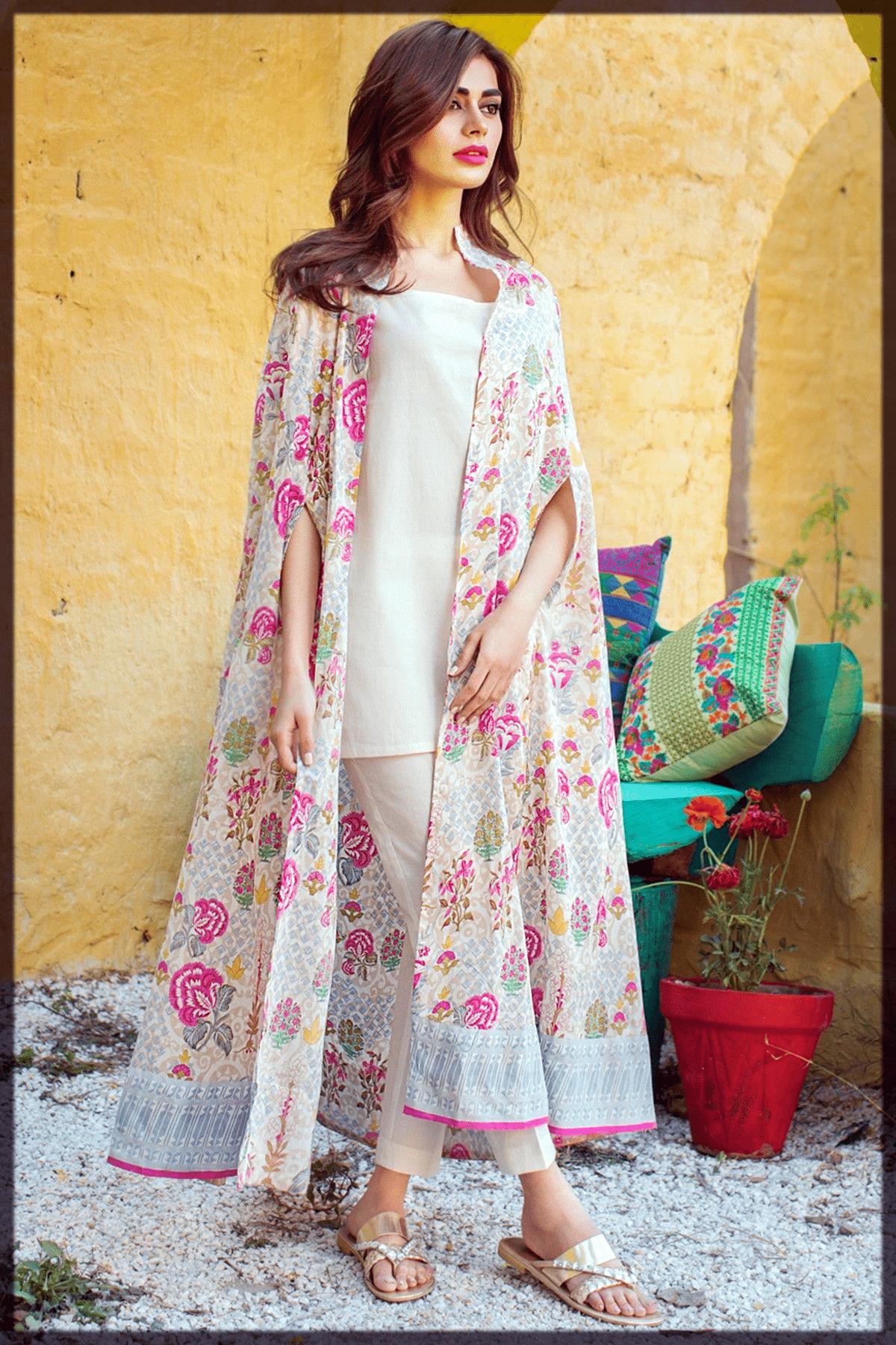 modest lawn dress design for girls