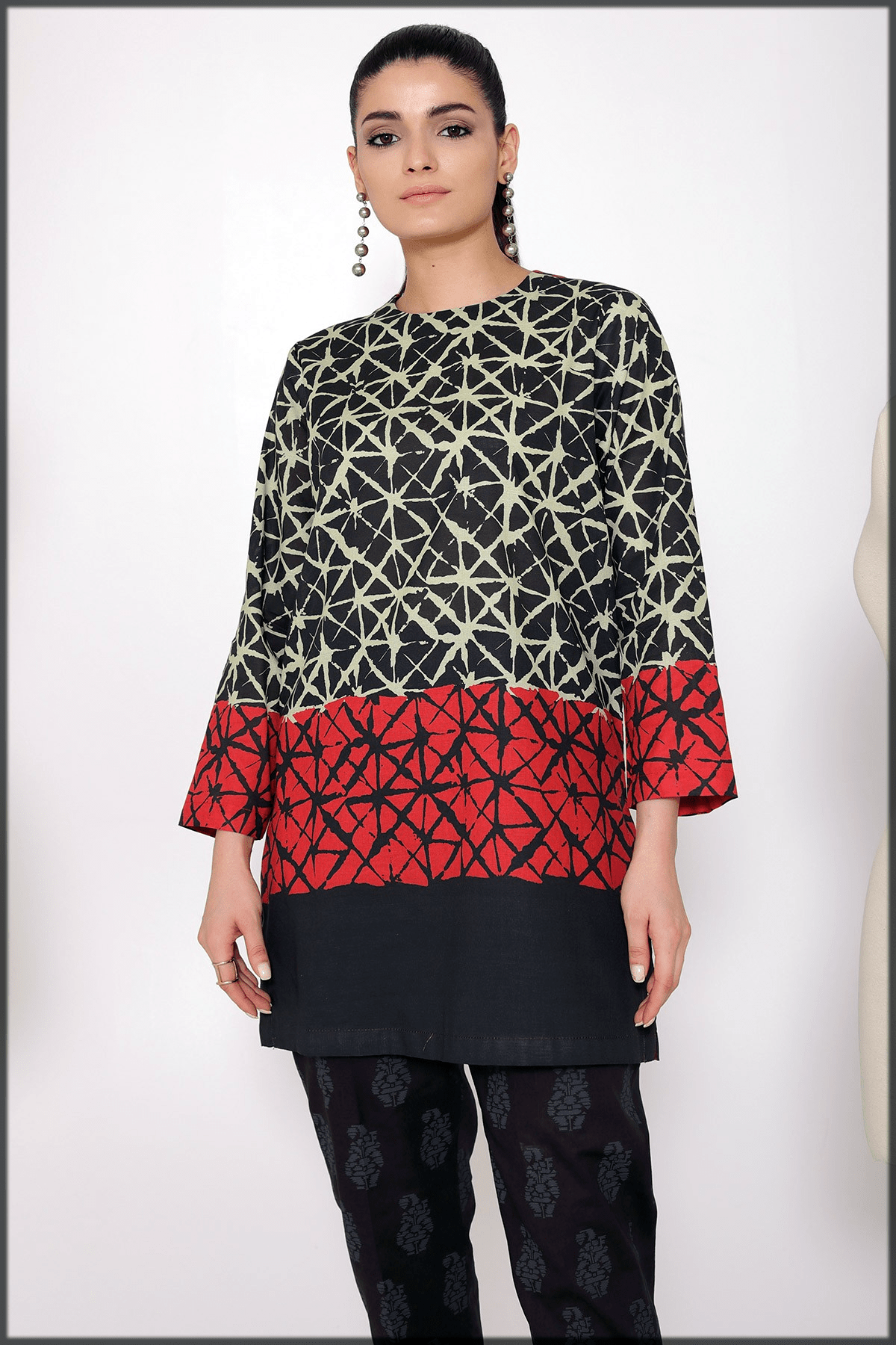 printed cambric kurti for women