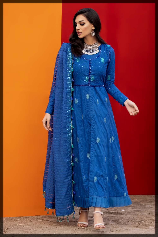 royal blue summer eid suit