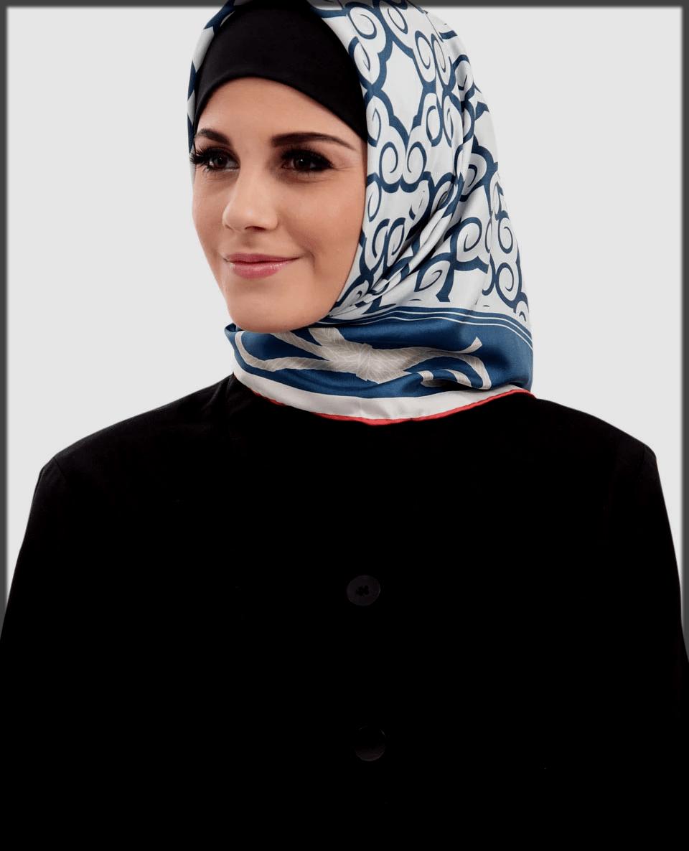 simple printed turkish hijab