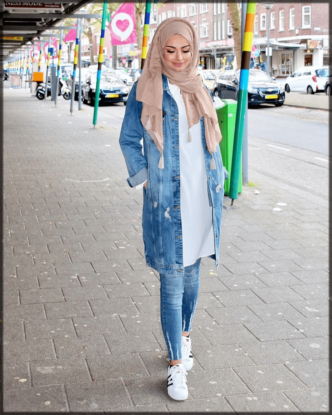slay hijjab with jeans styles