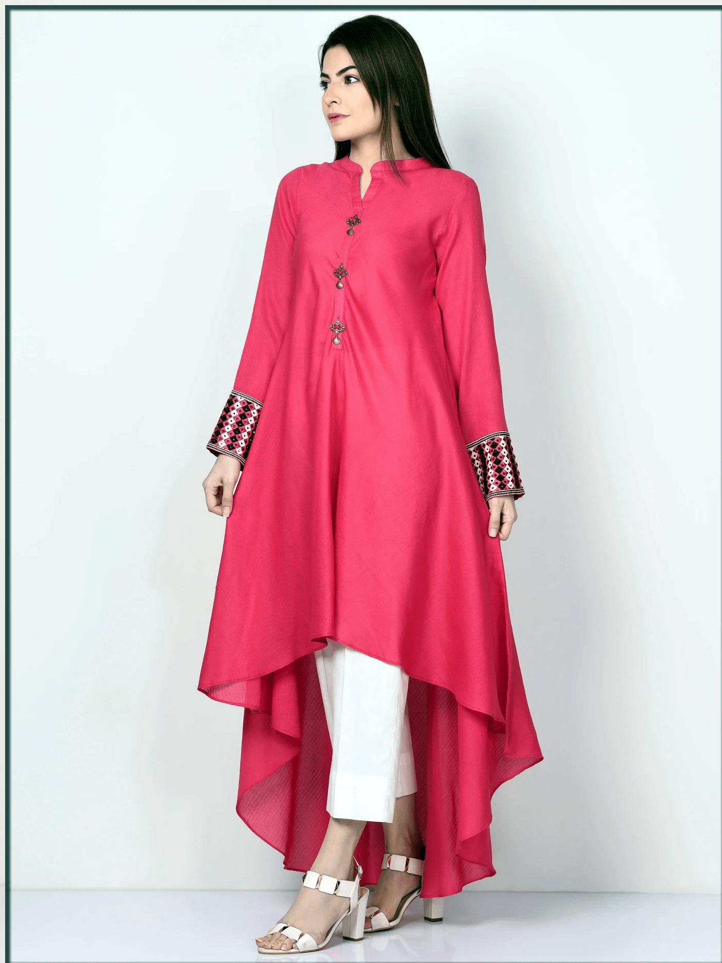 stunning pink kurta style