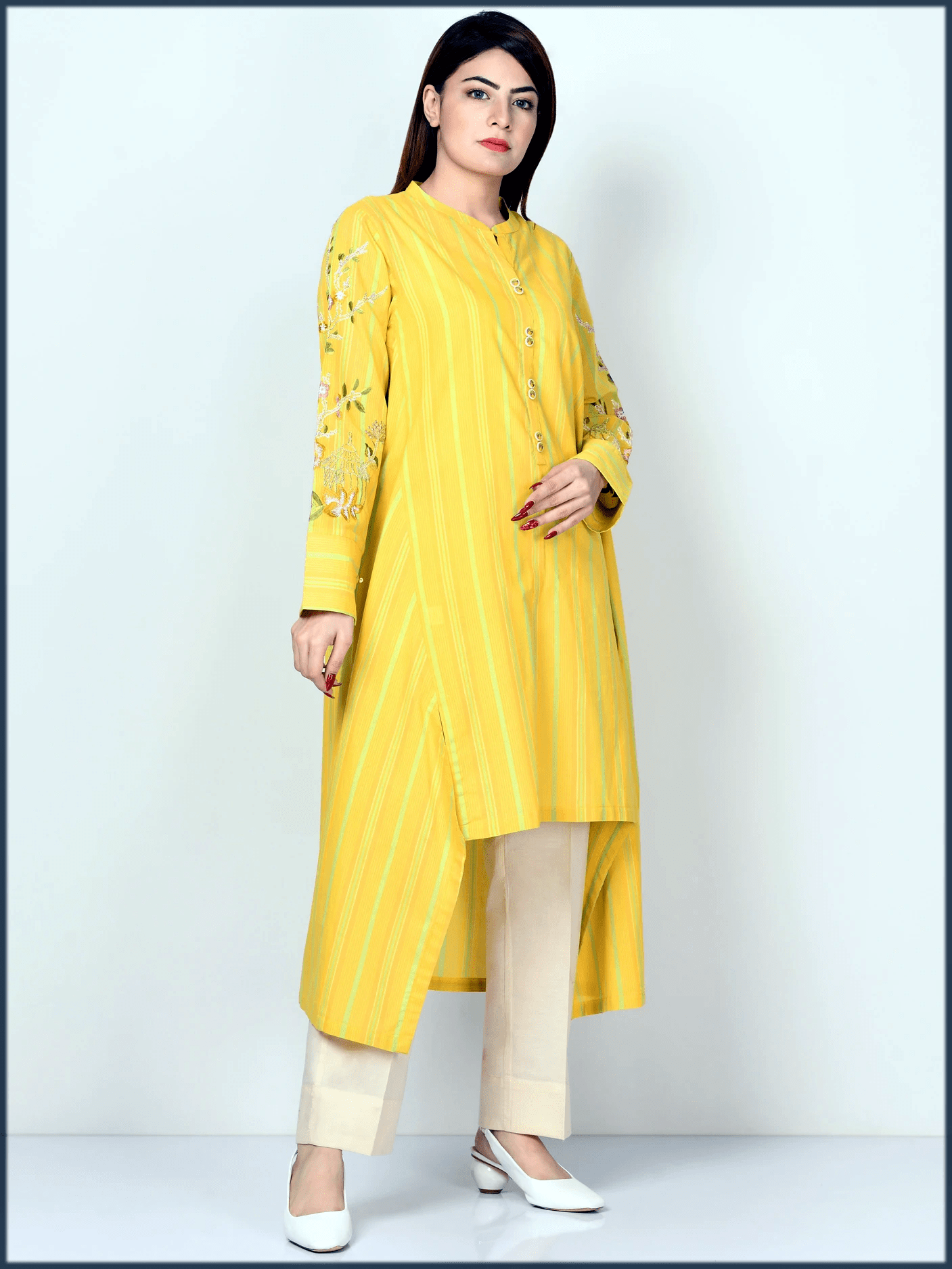 stunning yellow kurta by limeligt