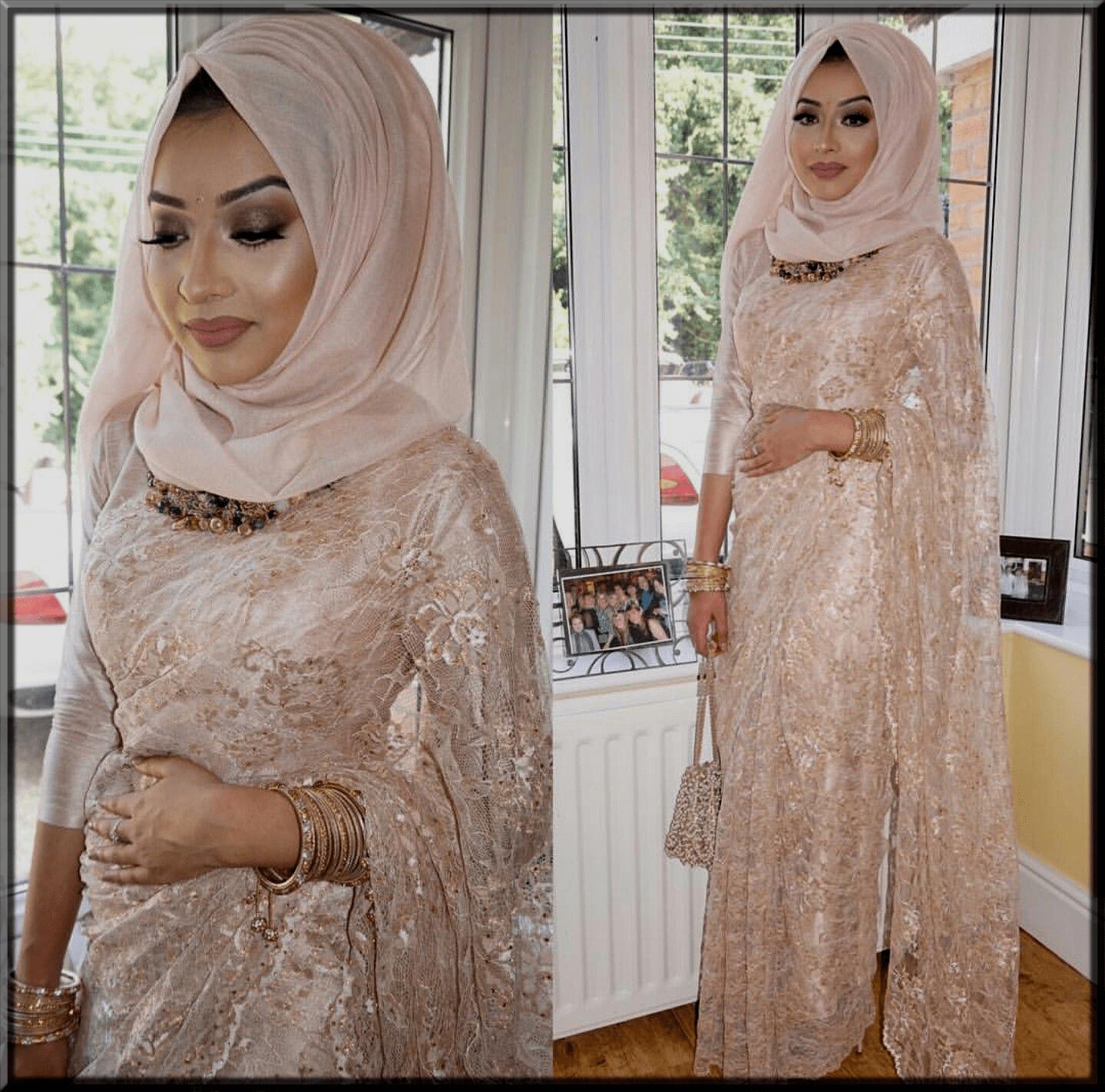 stylish saree with hijjab