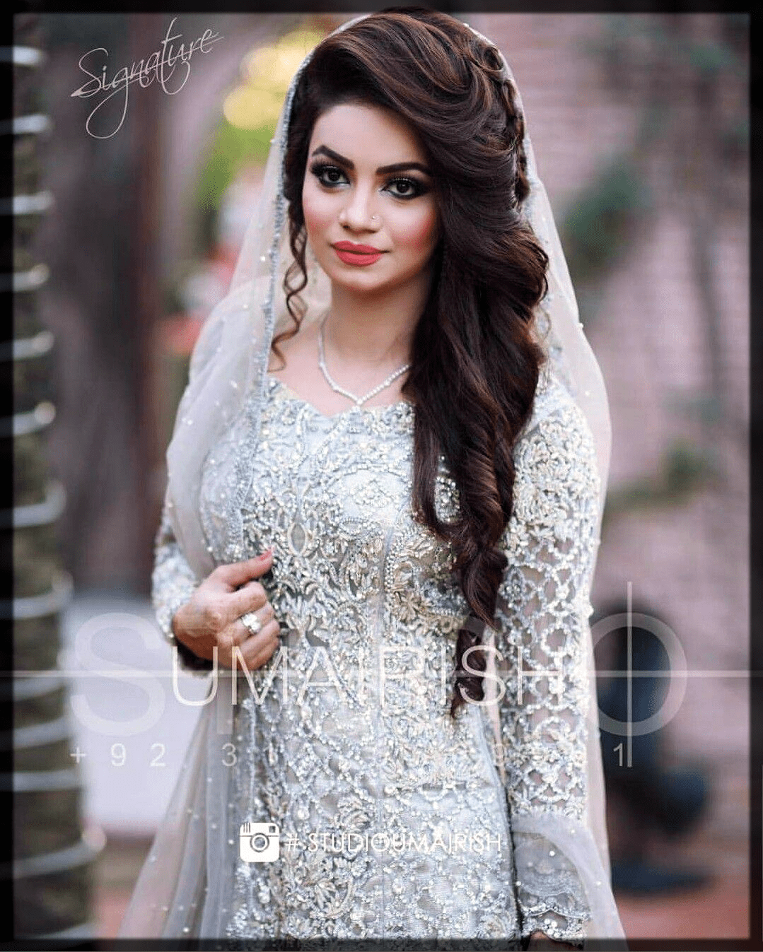 traditional bridal walima hairstyles for bride
