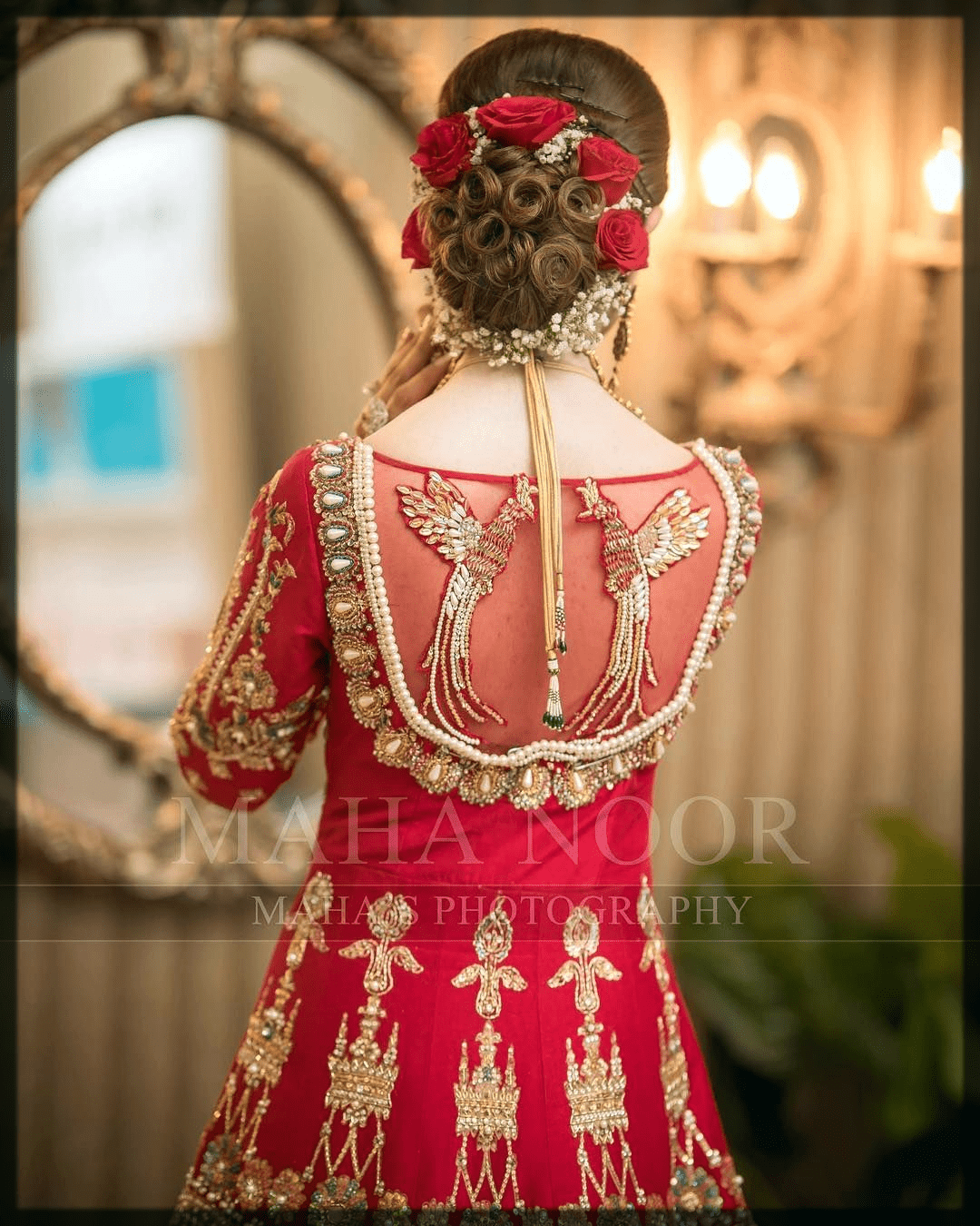 traditional flower hairstyles for bride