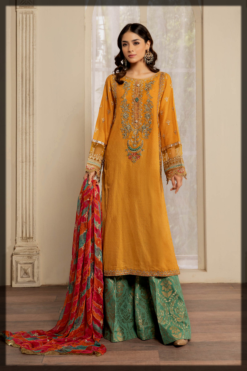 traditional summer lawn suit for eid