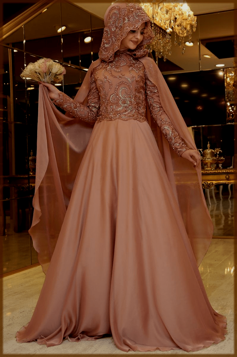 turkish hijab style with gown