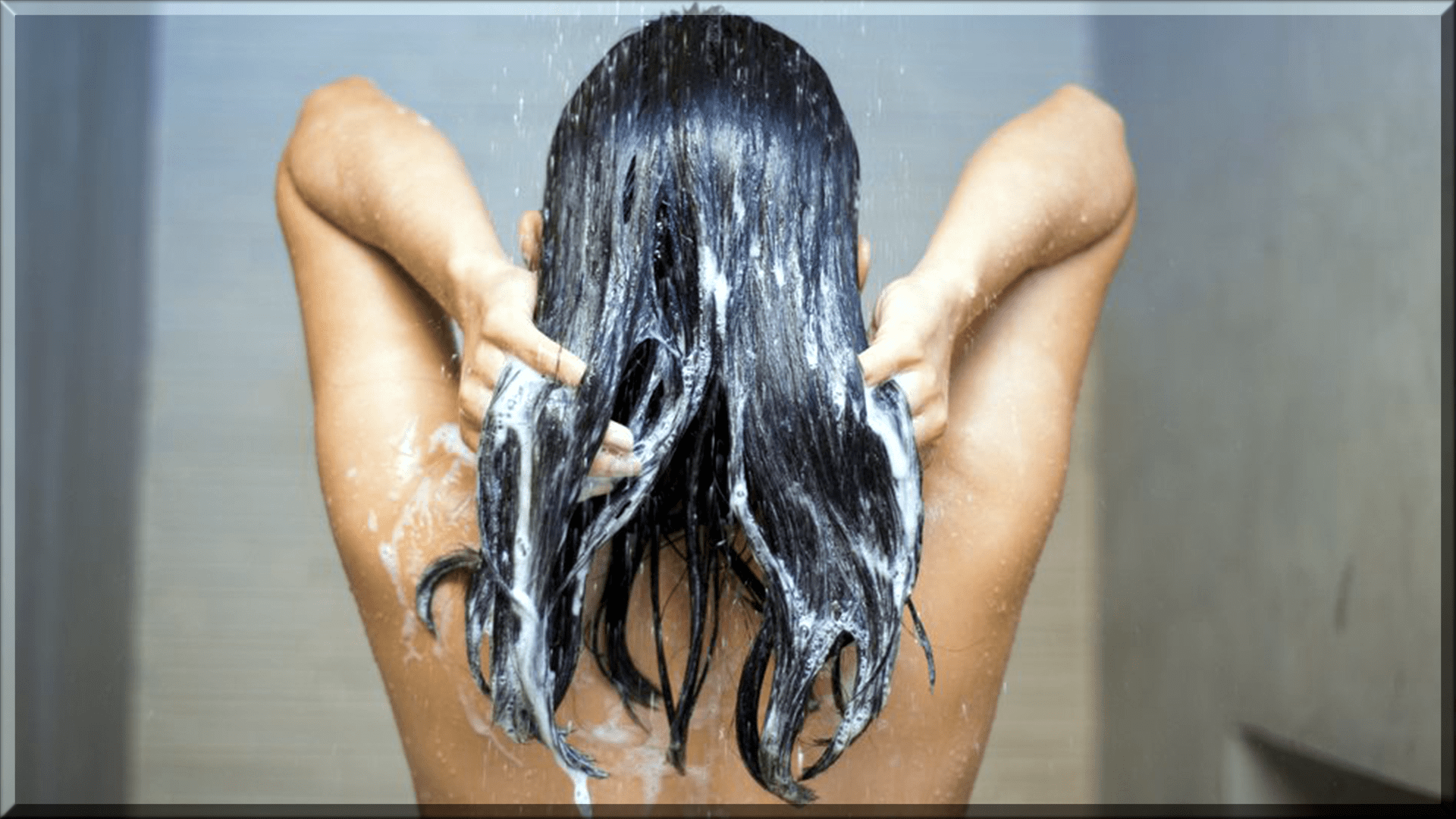 wash your hair with fresh water