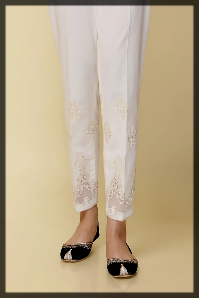 white cambric trouser by chinyere