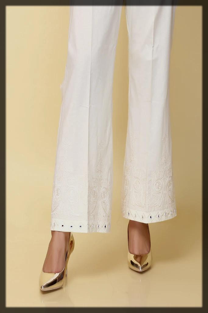 white cambric trouser