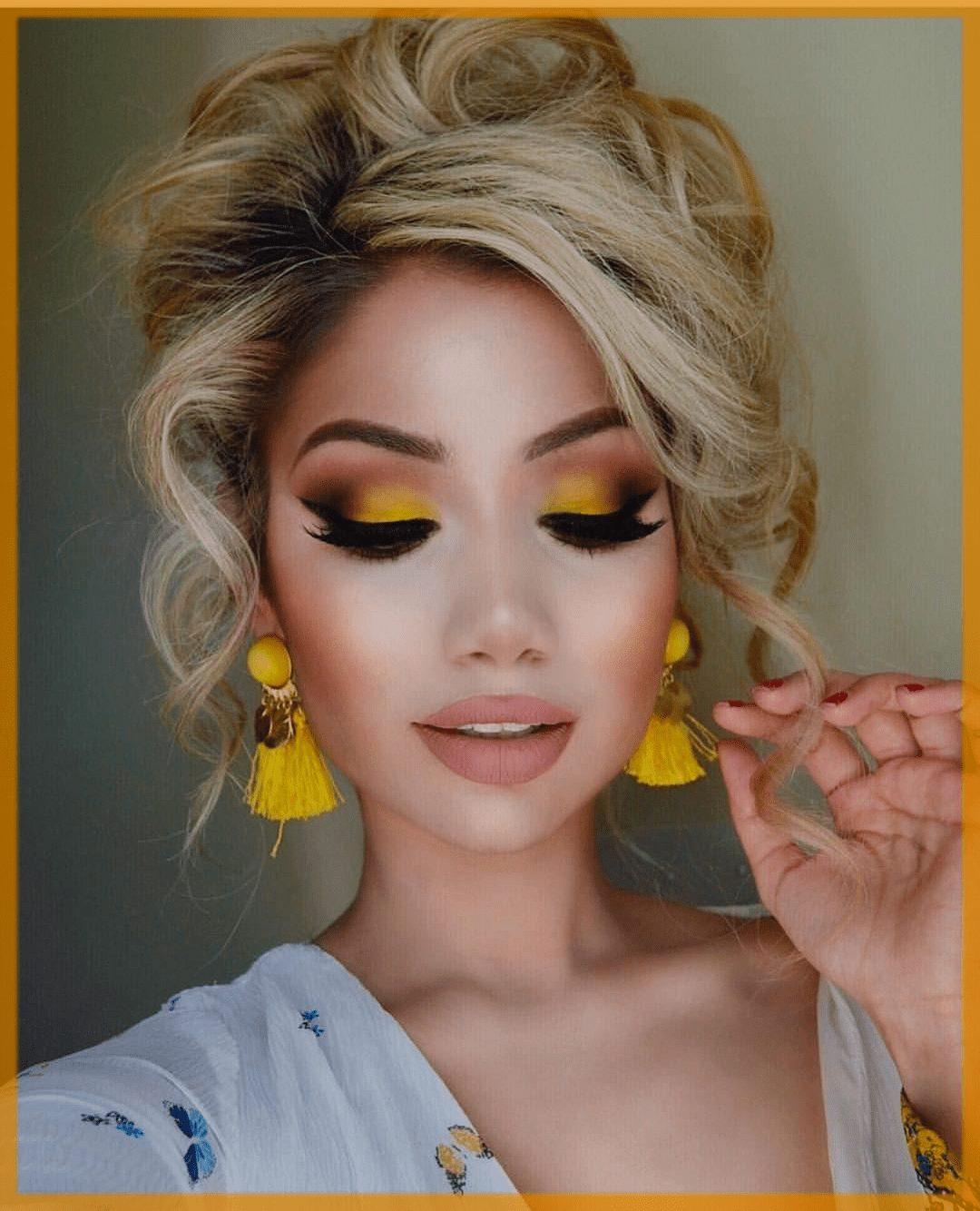 yellow step by step eyeshadows tutorial