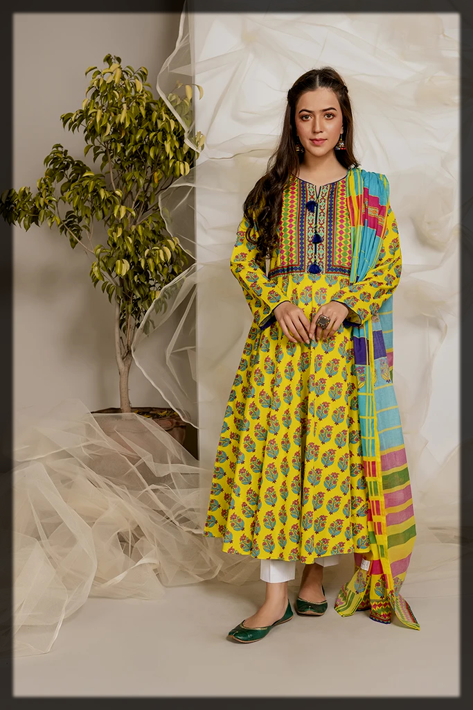 yellow summer 2 pc suit for girls