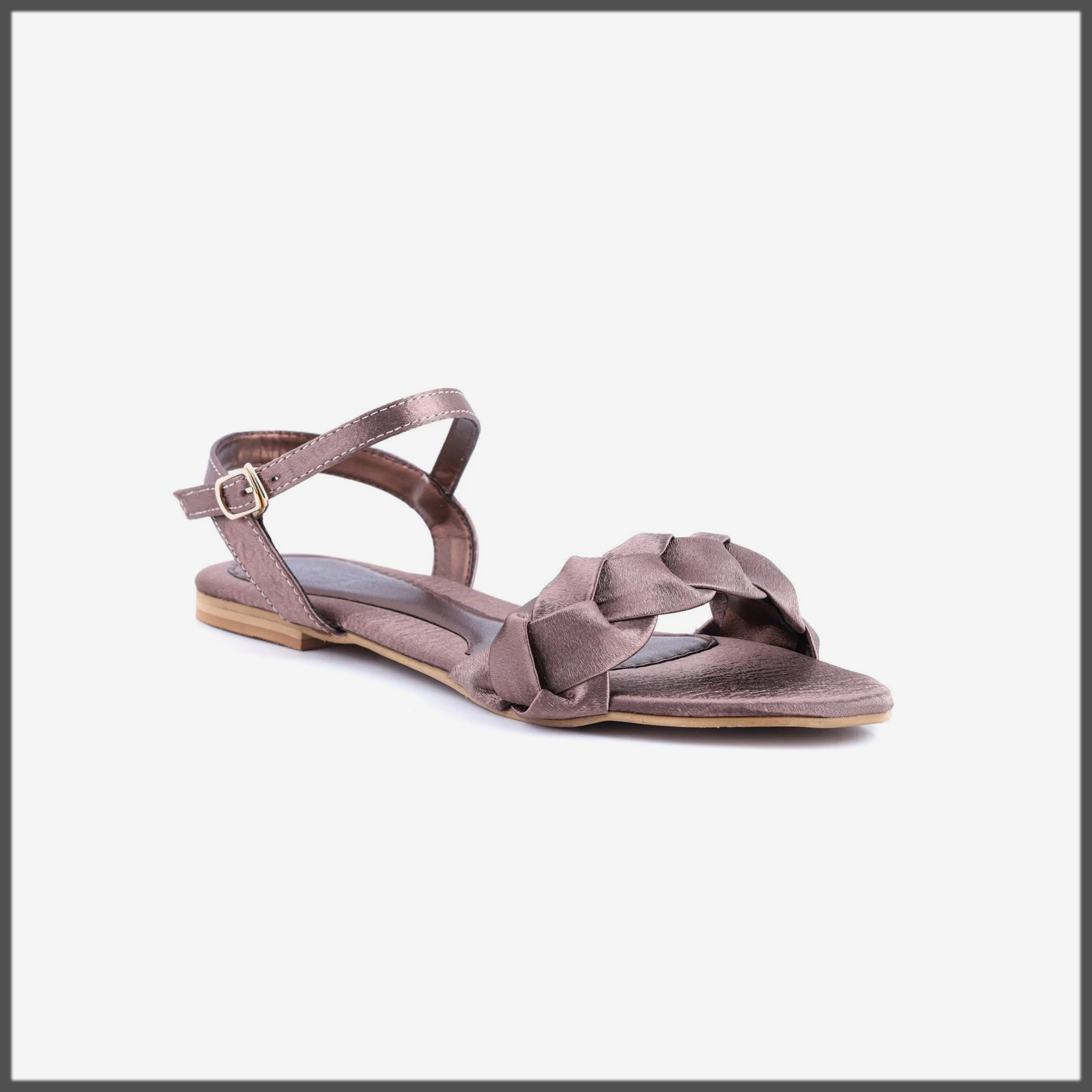 Brown Color Formal Sandals For Girls