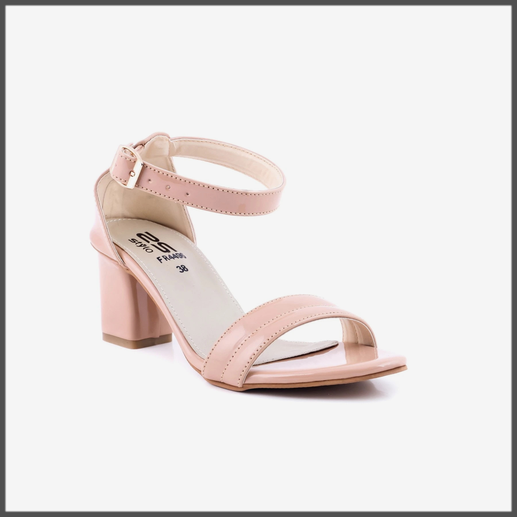 Peach Color Formal Sandals