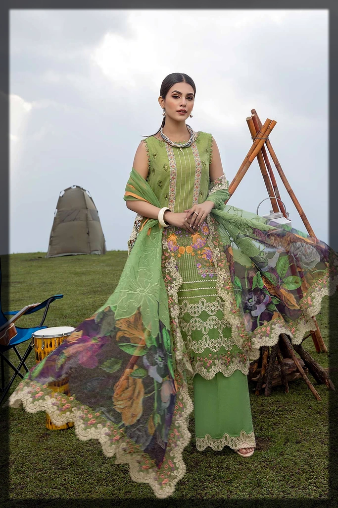 Stunning Embroidered eid suit for women