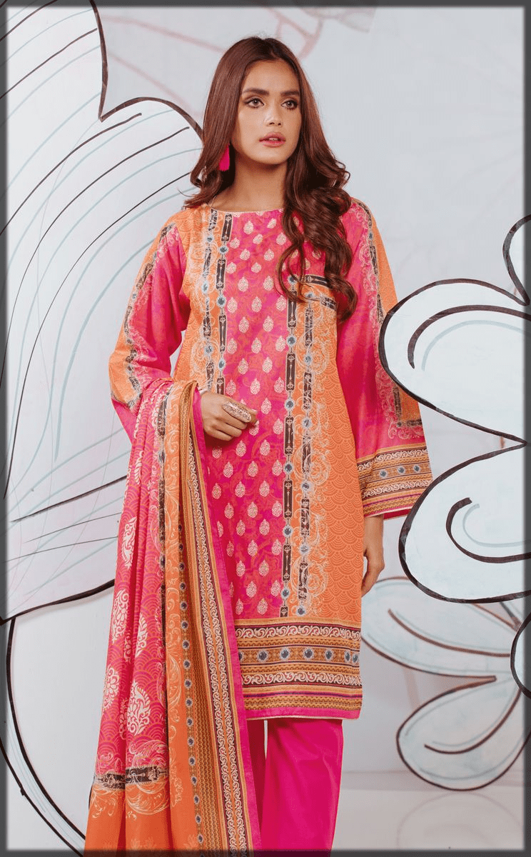 Vanilla Pink Embroidered Eid Outfits