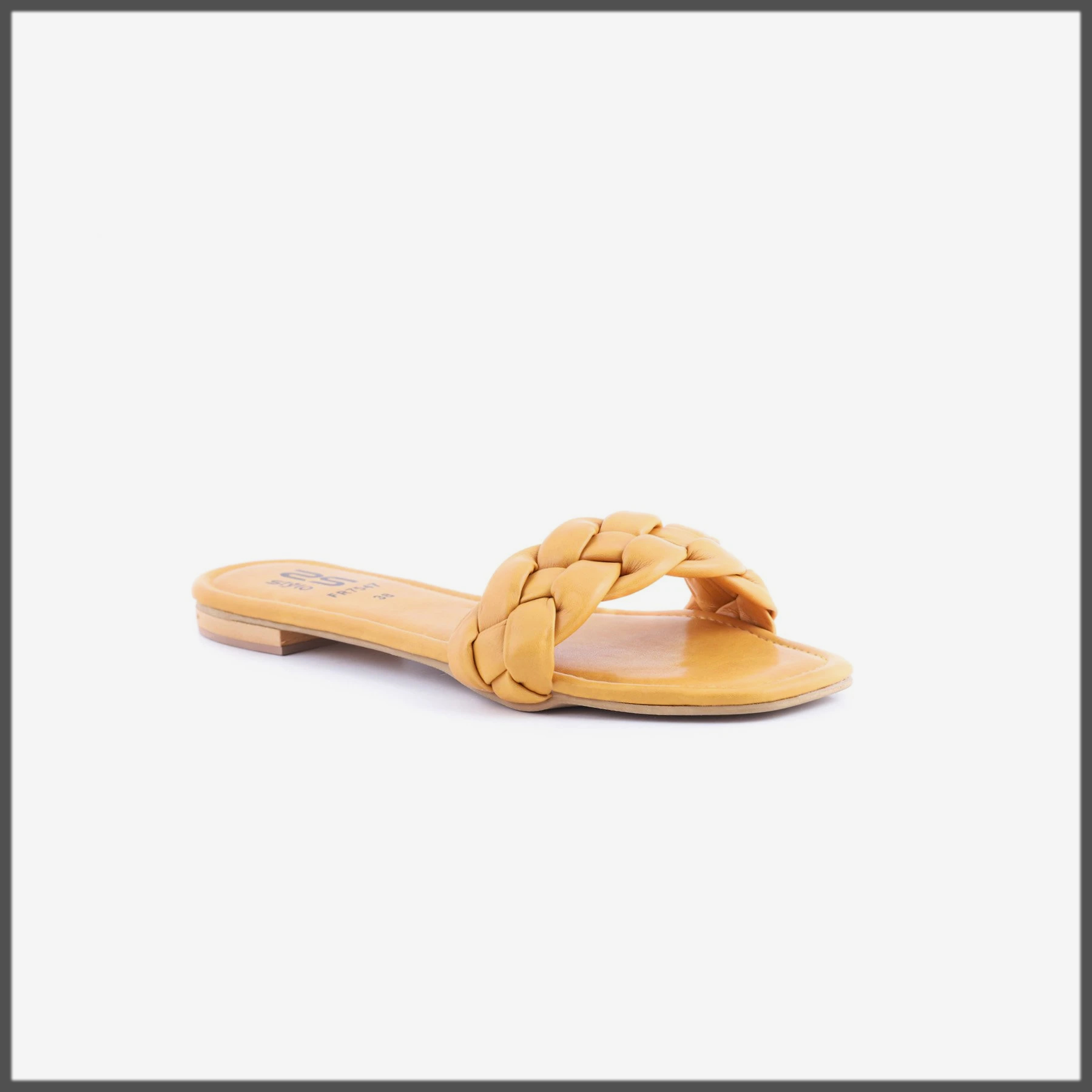 YELLOW SUMMER SLIPPER FOR WOMEN