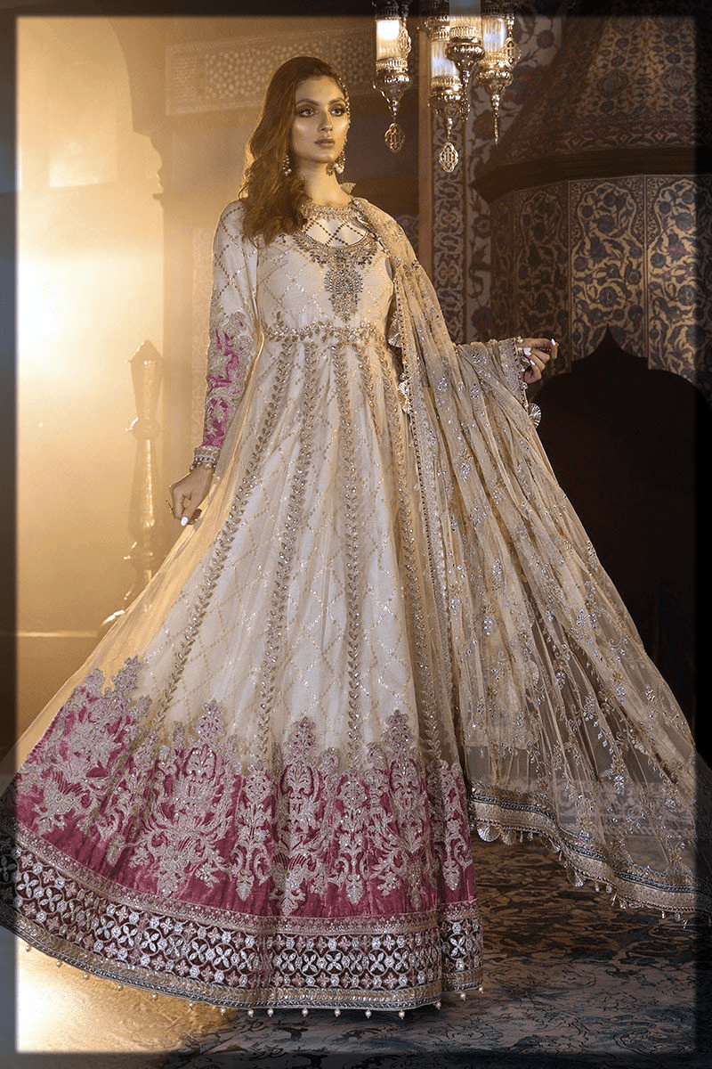 alluirng long frock for young ladies