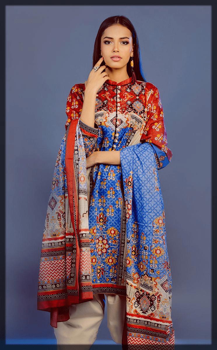 alluirng shades 3PC eid dress