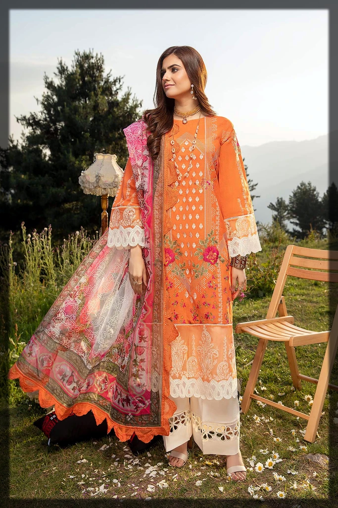 appealing and stunning summer eid suit by charizma