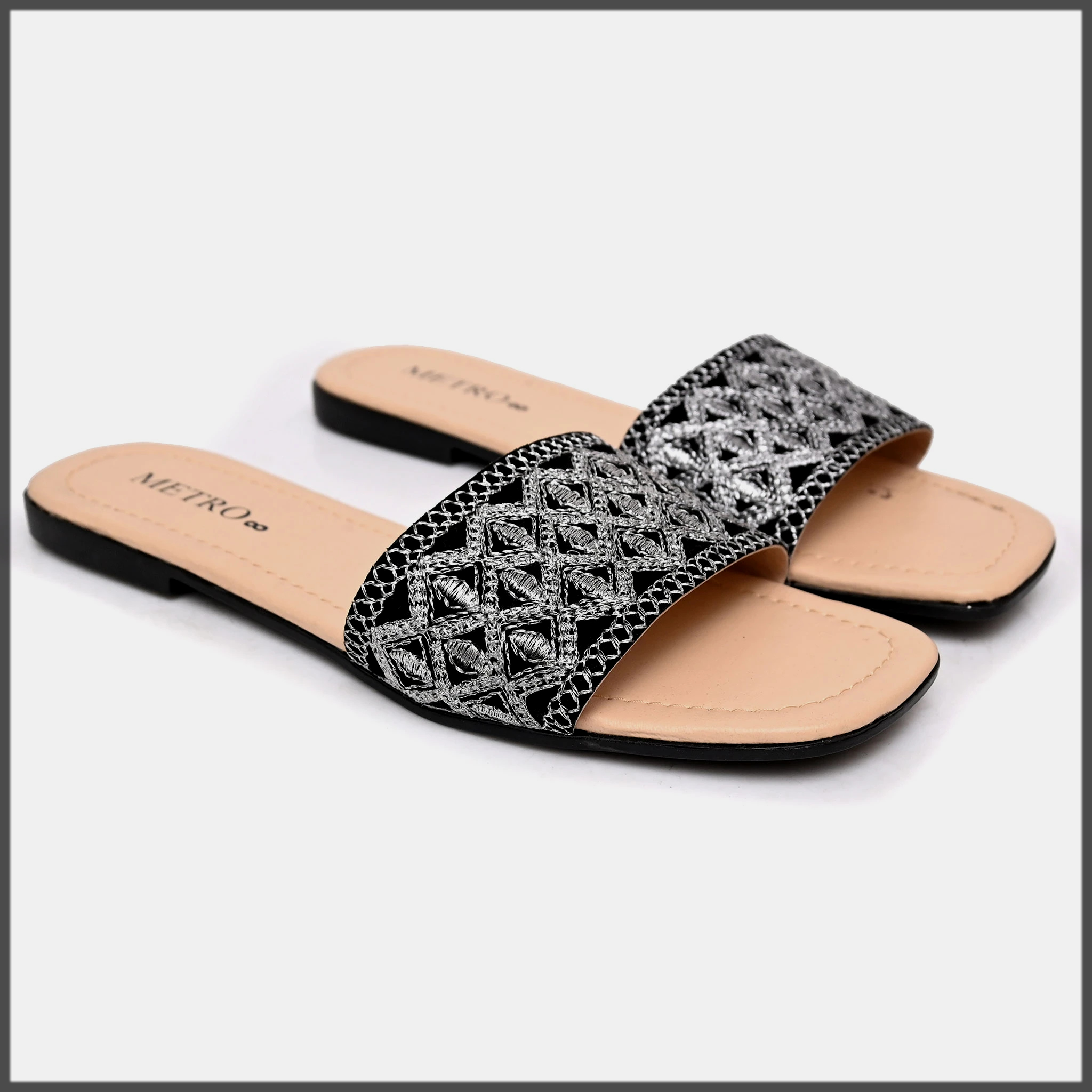 appealing black summer flat shoes