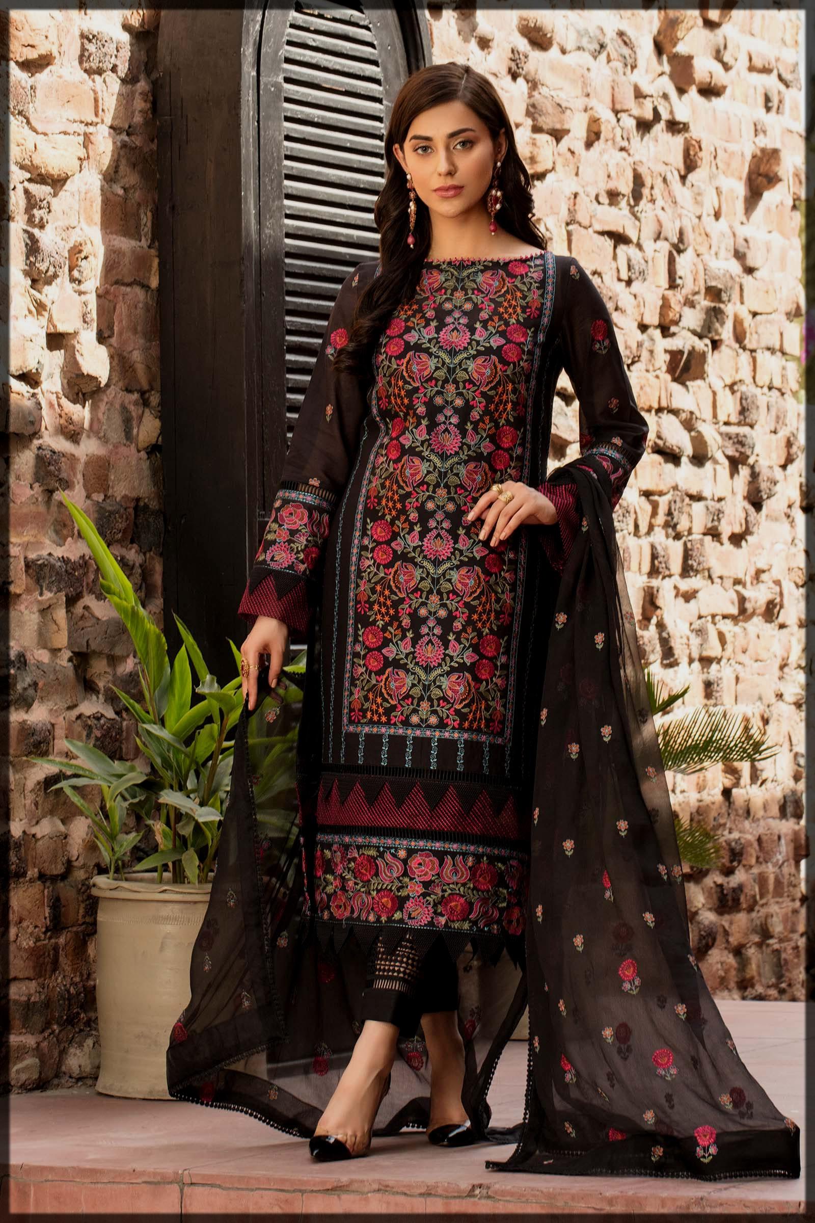 black eid suit for bareeze