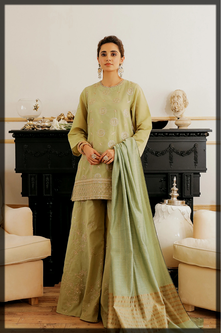 classical summer eid dress by ethnic by outfitters