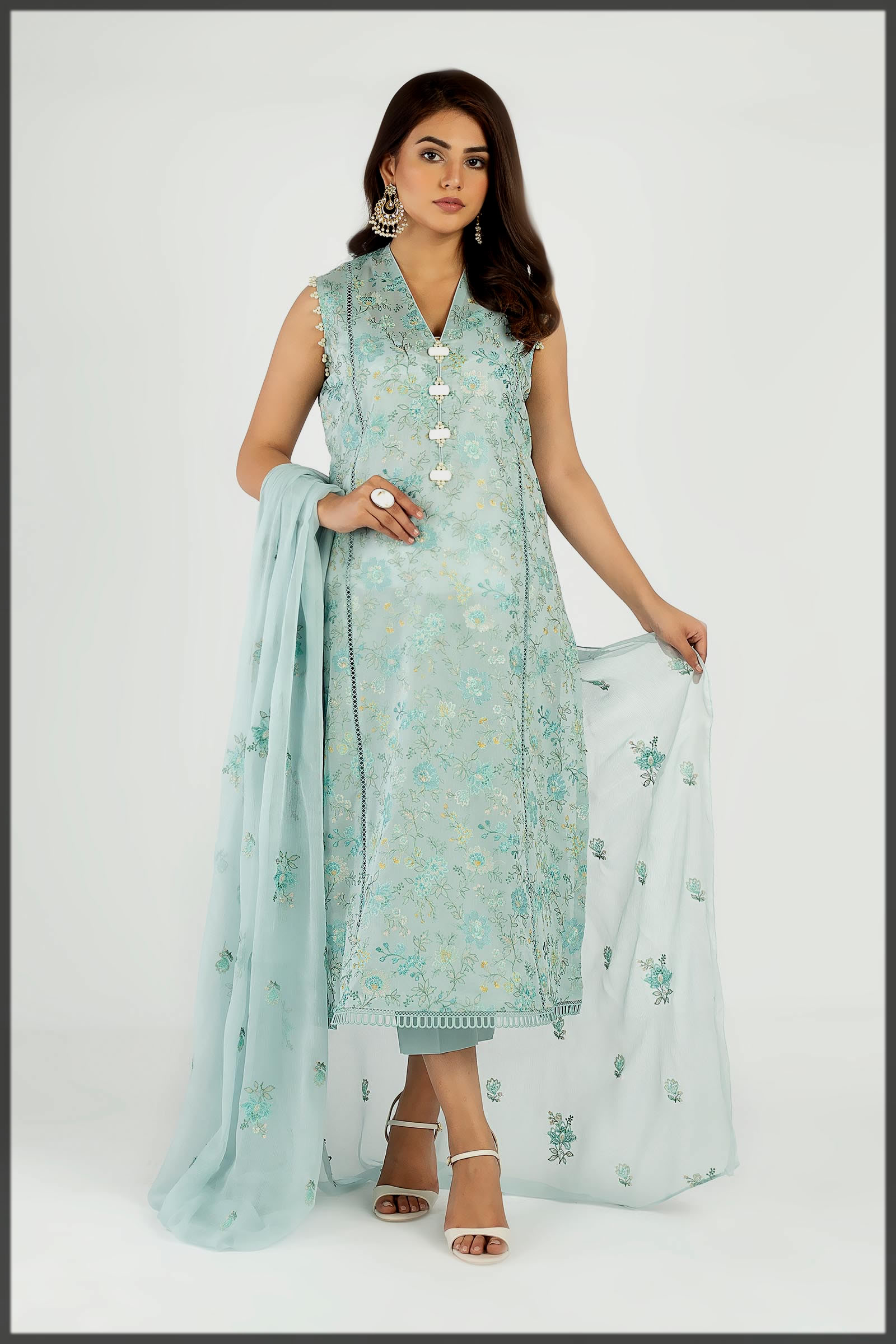 classy bareeze eid suit for women
