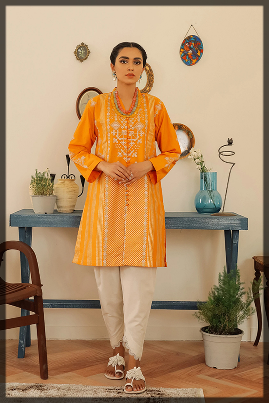 dazzling ethnic by outfitters summer eid dress