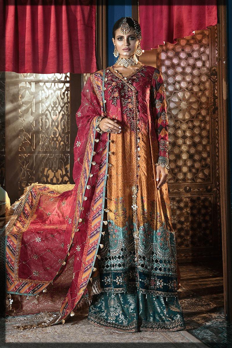 elegent shades pakistani party dresses