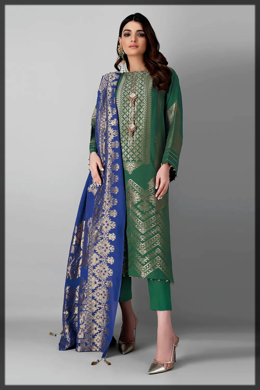 green shaded eid attires