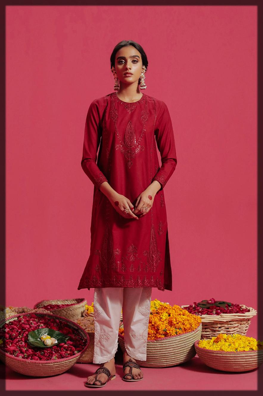 gulabi eid collection by Ethnic