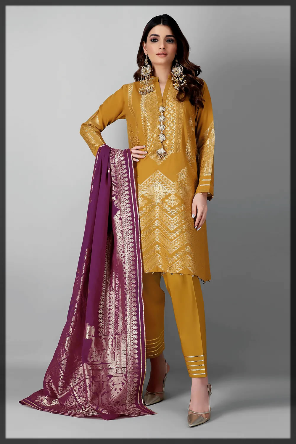 latest khaadi jacqurd collection for women