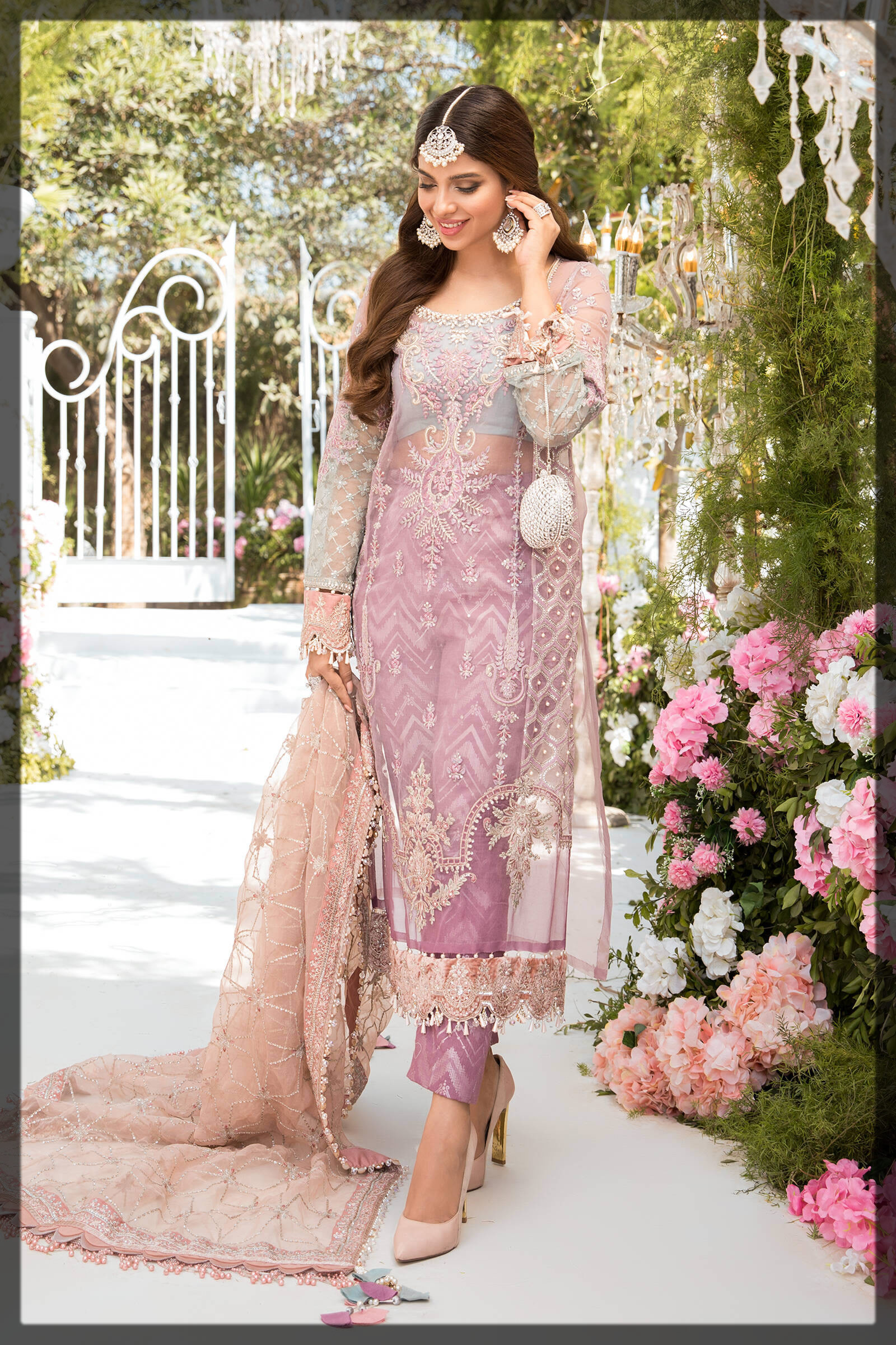 lilac embroidered eid outfit