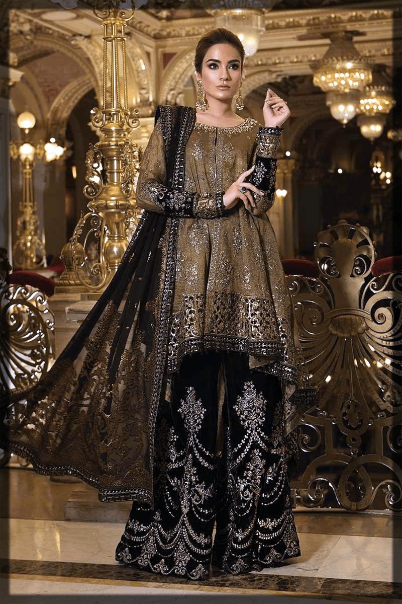 lovely black pakistani party dresses