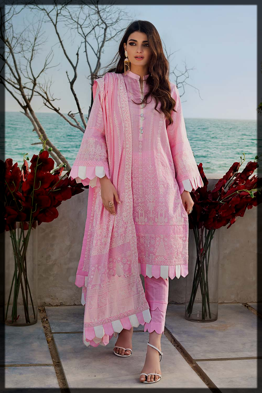 lovely pink eid suit