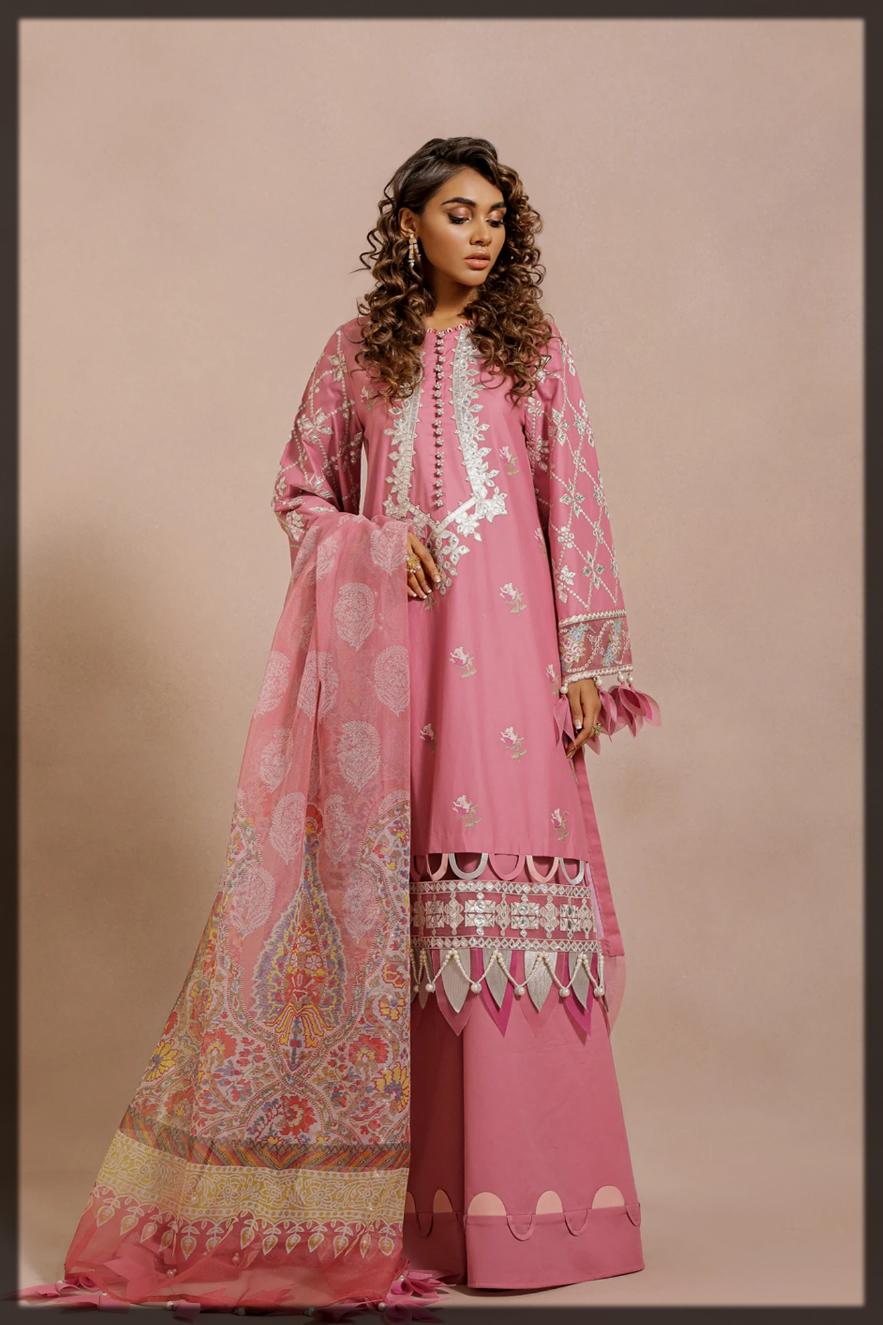 lovely pink summer eid dress for women
