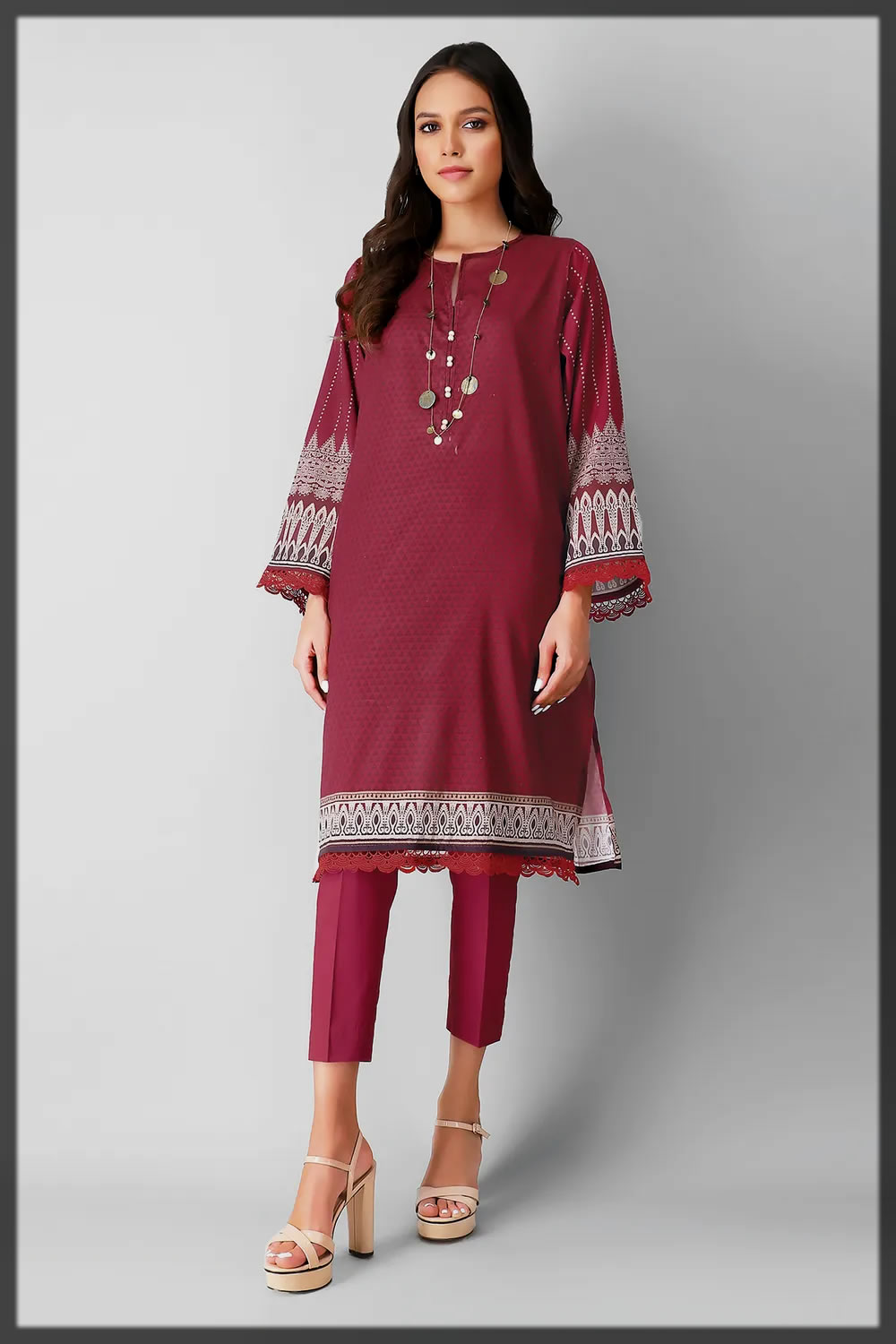 maroon eid suit for youngest