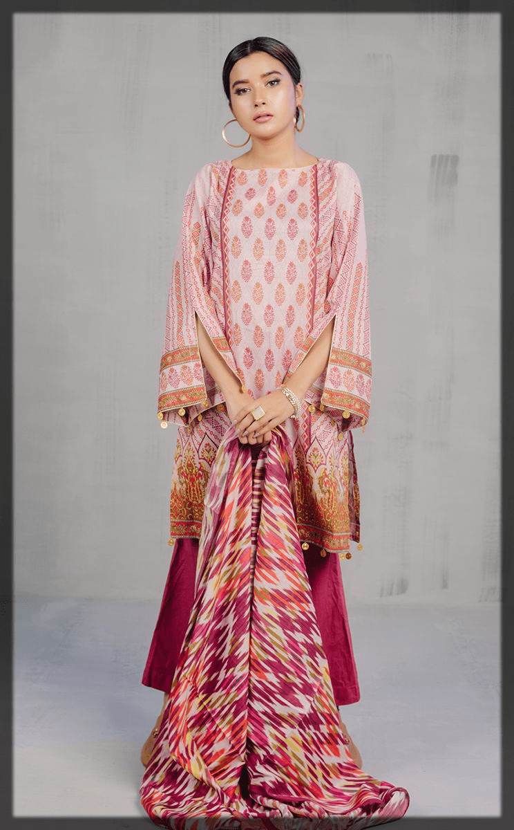pink and purple lovely eid dress