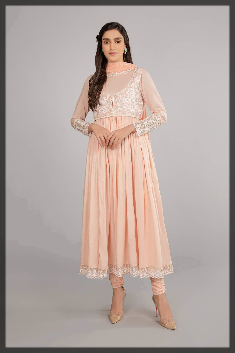 pink jacket style frock