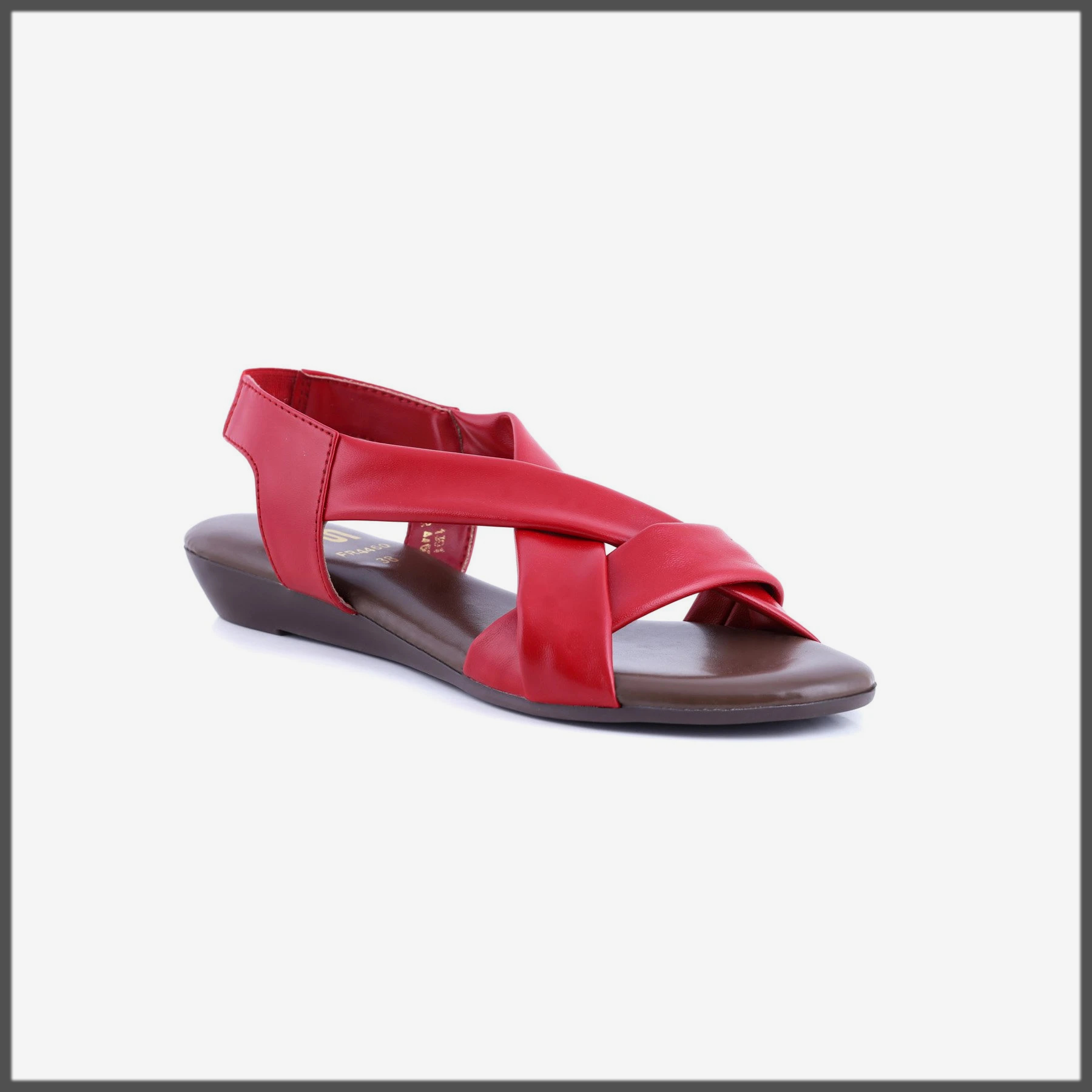 red eid sandals for women