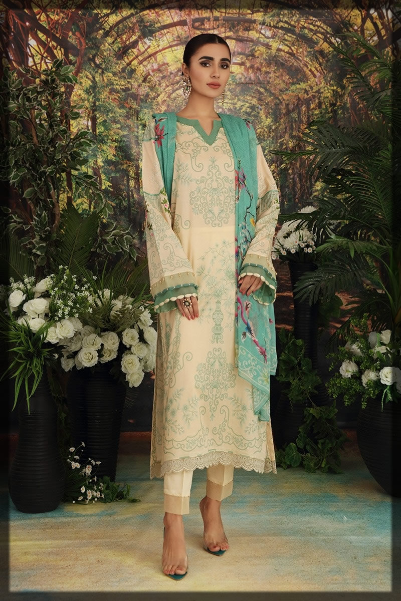 skin embroidered lawn dress