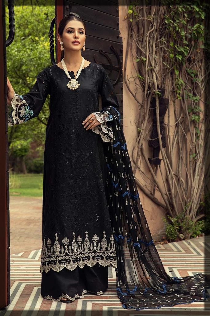 sleek black eid suit for ladies