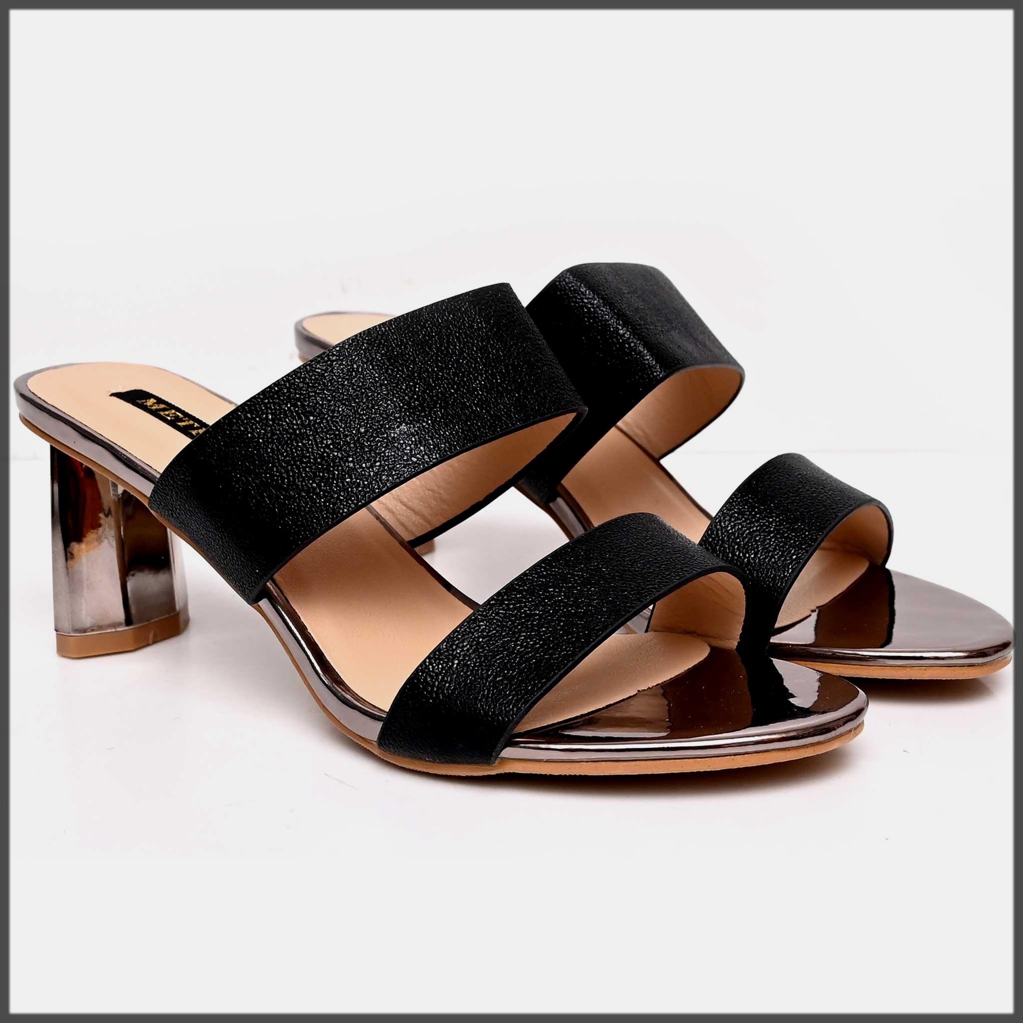sleek black summer formal shoes