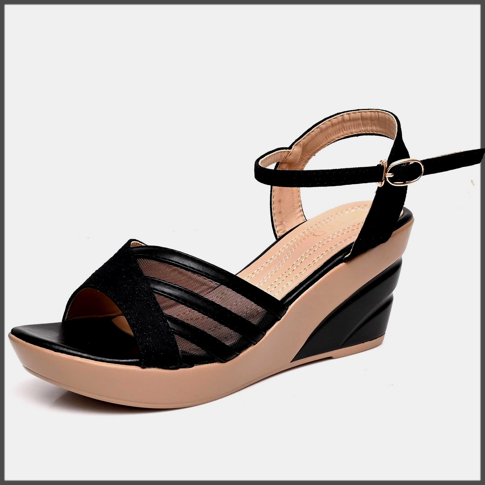 sleek black summer sandals collection